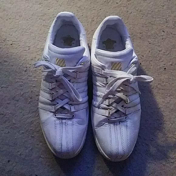 Mens White K-Swiss sneakers